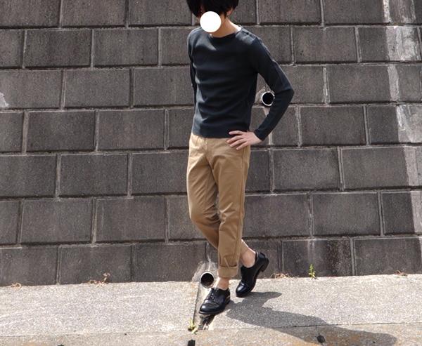 スーピマコットンボートネックセーター